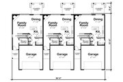 Traditional Style House Plan - 3 Beds 3 Baths 2065 Sq/Ft Plan #20-2356 Floor Plan - Main Floor Plan
