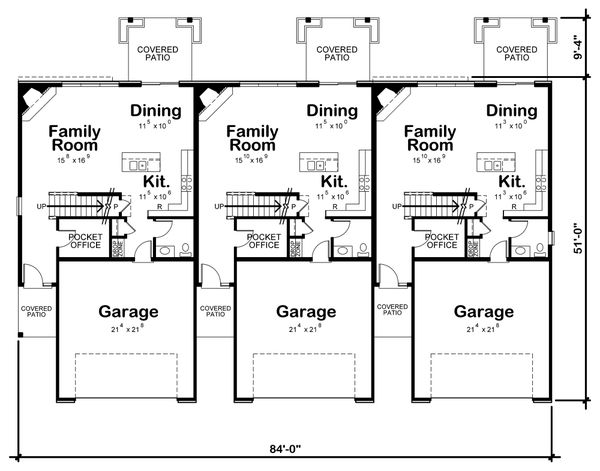 Architectural House Design - Traditional Floor Plan - Main Floor Plan #20-2356