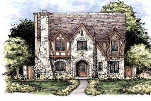 Tudor Exterior - Front Elevation Plan #141-339