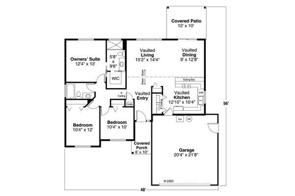 Home Plan - Ranch Floor Plan - Main Floor Plan #124-1224