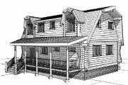 Log Style House Plan - 3 Beds 2 Baths 2296 Sq/Ft Plan #451-13 Exterior - Rear Elevation
