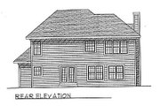 Traditional Style House Plan - 4 Beds 2.5 Baths 2043 Sq/Ft Plan #70-289 Exterior - Rear Elevation