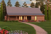 Farmhouse Style House Plan - 2 Beds 1 Baths 2060 Sq/Ft Plan #889-2 Exterior - Front Elevation