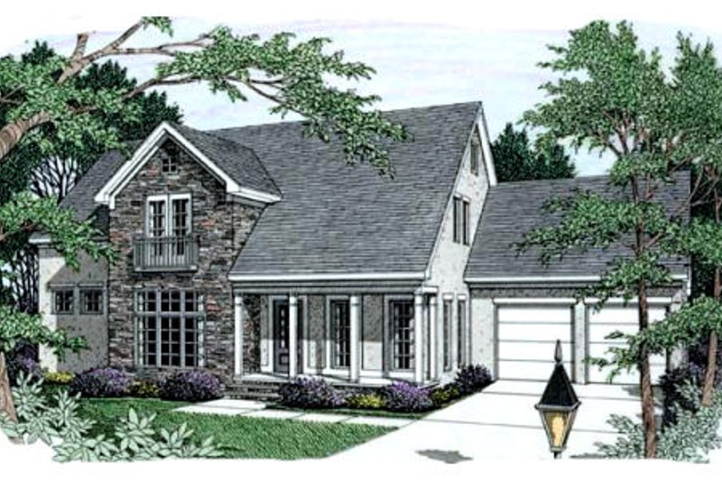 Dream House Plan - Traditional Exterior - Front Elevation Plan #406-226