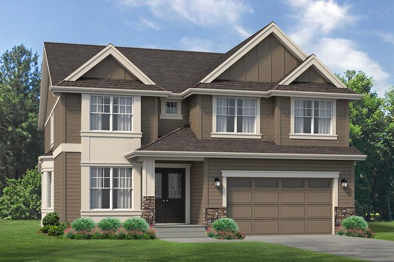 Traditional Style House Plan - 4 Beds 3 Baths 3263 Sq/Ft Plan #1066-61 Exterior - Front Elevation