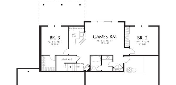 Lower Level floor plan - 2900 square foot Craftsman home
