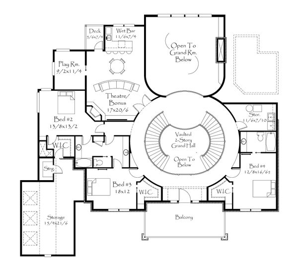 Floor Plan - Upper Floor Plan Plan #509-69