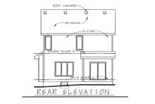 Home Plan - Traditional Exterior - Rear Elevation Plan #20-1664