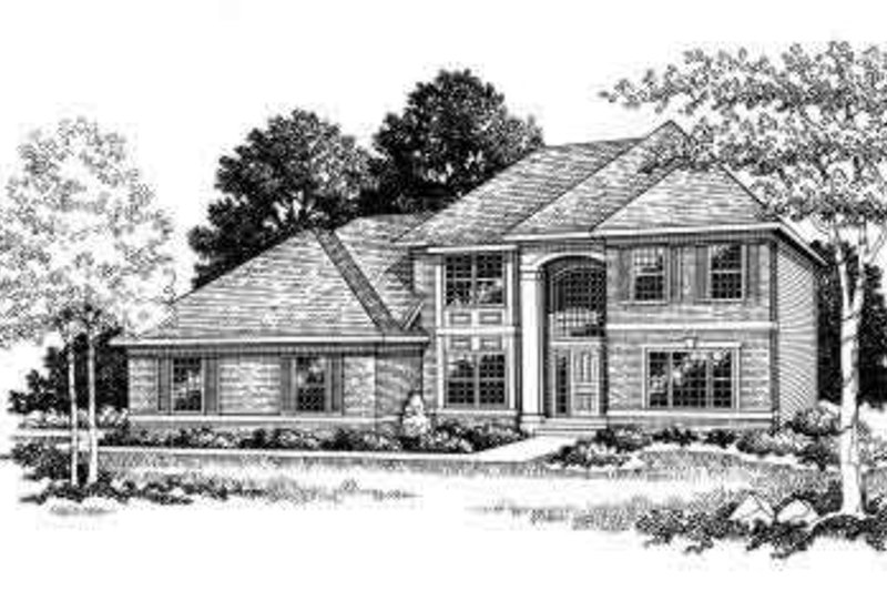 Traditional Style House Plan - 3 Beds 2.5 Baths 2181 Sq/Ft Plan #70-647 Exterior - Front Elevation