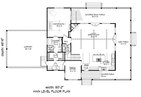 Country Floor Plan - Main Floor Plan #932-268