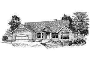 Craftsman Exterior - Front Elevation Plan #53-524