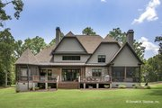 European Style House Plan - 5 Beds 4 Baths 4221 Sq/Ft Plan #929-855 Exterior - Rear Elevation
