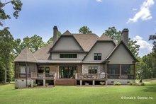 Architectural House Design - European Exterior - Rear Elevation Plan #929-855