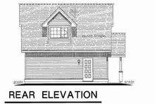 House Plan Design - Cottage Exterior - Rear Elevation Plan #18-4356