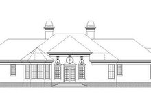 European Exterior - Rear Elevation Plan #119-322