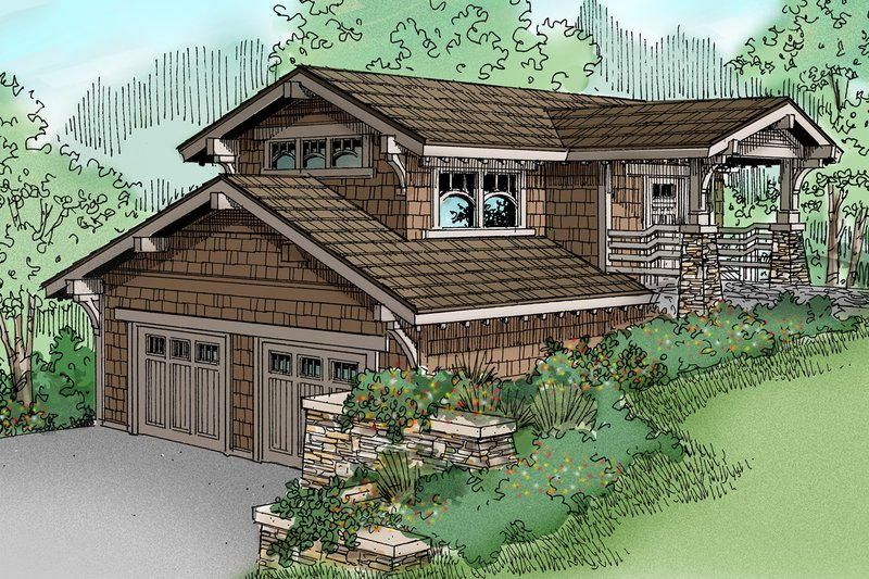 Craftsman Style House Plan - 0 Beds 1 Baths 575 Sq/Ft Plan #124-650 Exterior - Front Elevation