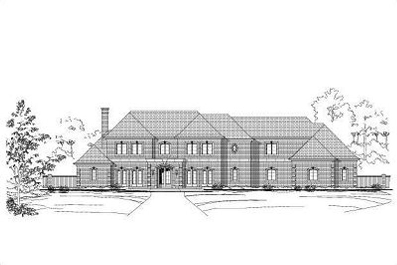 European Style House Plan - 6 Beds 6.5 Baths 10235 Sq/Ft Plan #411-408 Exterior - Front Elevation