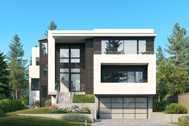Architectural House Design - Contemporary Exterior - Front Elevation Plan #1066-133