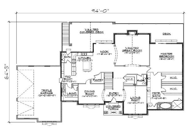 European Floor Plan - Main Floor Plan Plan #5-350