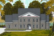 Colonial Style House Plan - 4 Beds 4 Baths 3552 Sq/Ft Plan #413-810 Exterior - Front Elevation