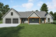Farmhouse Style House Plan - 3 Beds 2.5 Baths 2564 Sq/Ft Plan #1070-117 Exterior - Rear Elevation