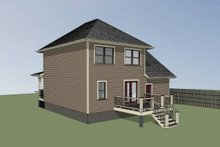 Cottage Exterior - Rear Elevation Plan #79-123