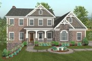 Traditional Style House Plan - 4 Beds 3.5 Baths 2499 Sq/Ft Plan #56-585 Exterior - Front Elevation