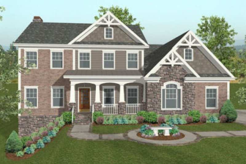 Traditional Exterior - Front Elevation Plan #56-585 - Houseplans.com