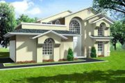 Adobe / Southwestern Style House Plan - 3 Beds 2.5 Baths 1962 Sq/Ft Plan #1-428 Exterior - Front Elevation