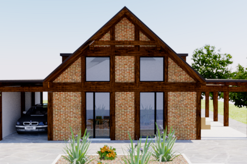 Dream House Plan - Modern Exterior - Front Elevation Plan #542-8