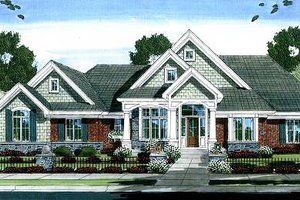 House Design - Traditional Exterior - Front Elevation Plan #46-412