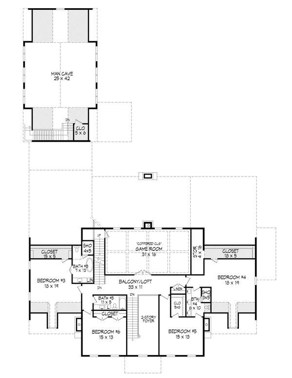 House Plan Design - Country Floor Plan - Upper Floor Plan #932-366