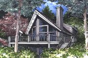 Cottage Style House Plan - 3 Beds 2 Baths 1648 Sq/Ft Plan #320-413