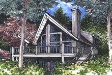 Cottage Exterior - Front Elevation Plan #320-413