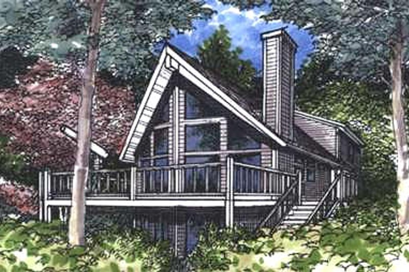 Cottage Exterior - Front Elevation Plan #320-413 - Houseplans.com