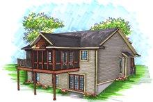 House Plan Design - Ranch Exterior - Rear Elevation Plan #70-1034