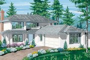 Traditional Style House Plan - 3 Beds 2.5 Baths 2090 Sq/Ft Plan #47-141 Exterior - Front Elevation