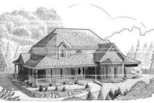 Dream House Plan - Victorian Exterior - Front Elevation Plan #410-406