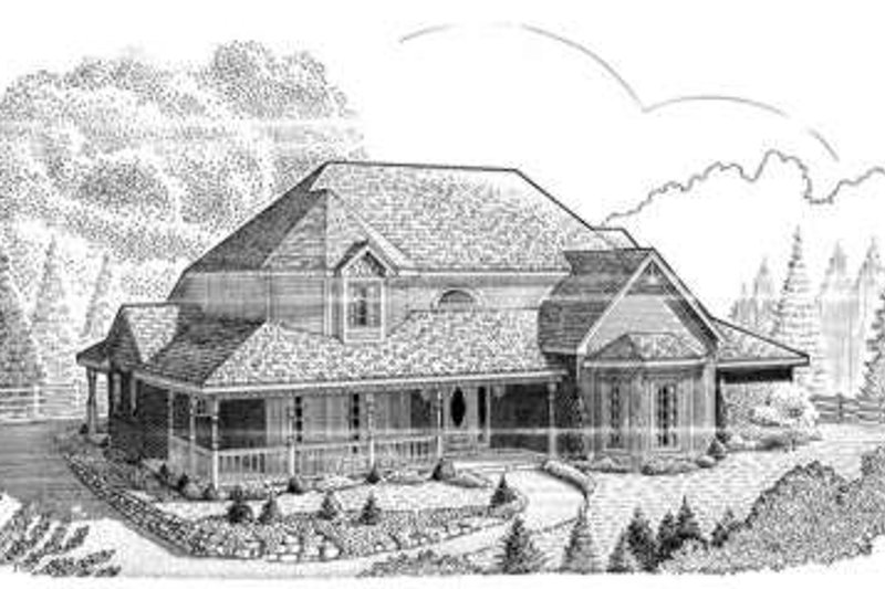 Victorian Exterior - Front Elevation Plan #410-406