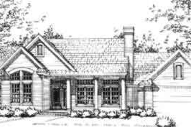 Traditional Style House Plan - 3 Beds 2 Baths 1825 Sq/Ft Plan #120-151 Exterior - Front Elevation