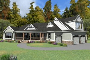European Exterior - Front Elevation Plan #63-408
