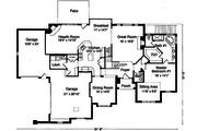 European Style House Plan - 5 Beds 3.5 Baths 3168 Sq/Ft Plan #46-349 Floor Plan - Main Floor Plan