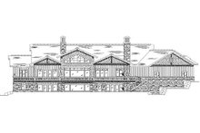 Bungalow Exterior - Rear Elevation Plan #5-422