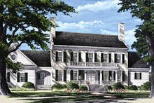 Colonial Exterior - Front Elevation Plan #137-247