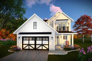 Country Exterior - Front Elevation Plan #70-1463