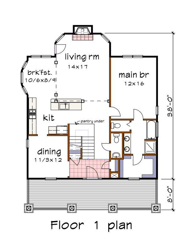 Craftsman Floor Plan - Main Floor Plan #79-280