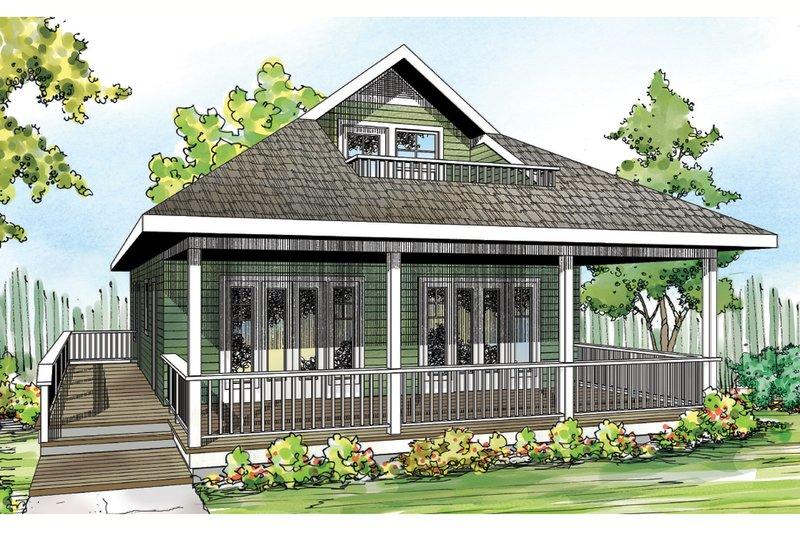 Cottage Exterior - Front Elevation Plan #124-916