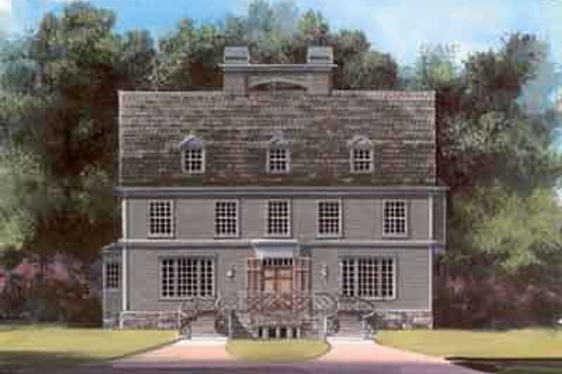 Colonial Exterior - Front Elevation Plan #119-159