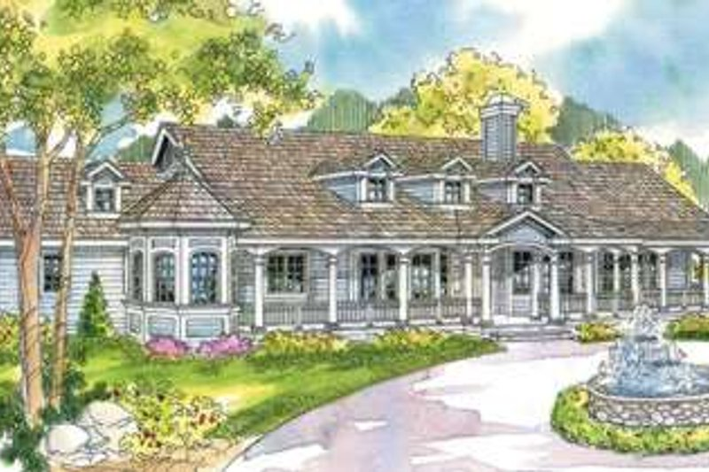 Dream House Plan - Traditional Exterior - Front Elevation Plan #124-576