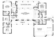 Contemporary Style House Plan - 3 Beds 2.5 Baths 2798 Sq/Ft Plan #48-971 Floor Plan - Main Floor